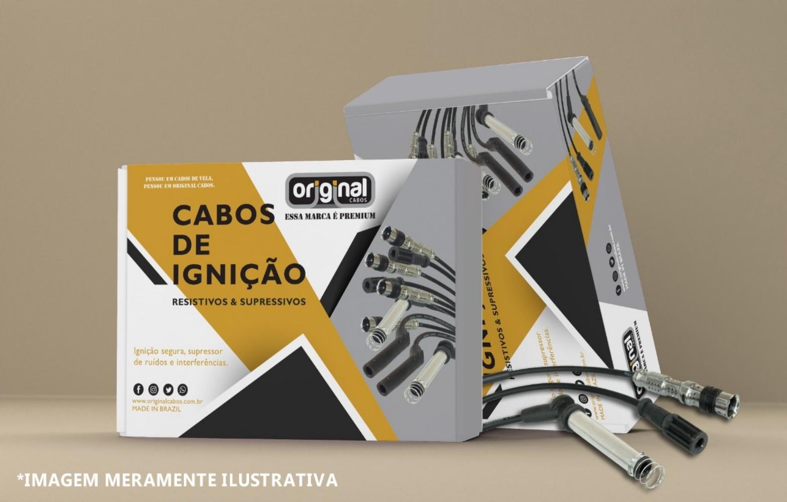 CABO DE IGNICAO 8MM FORD EXPLORER MOTOR V8 8 CIL CZ/PT